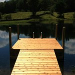 Floating Dock with Custom-Built Ramp
